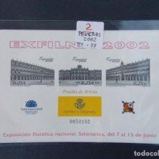 Sellos: LOTE DE 2 PRUEBAS OFICIALES Nº 78 - EXFILNA 2002 - SALAMANCA - ESPAÑA ...A1510. Lote 162478578