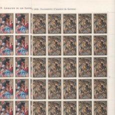 Selos: ESPAÑA-1944/45 NAVIDAD AÑO 69 PLIEGOS 80 SELLOS NUEVOS (SEGÚN FOTO). Lote 162521254
