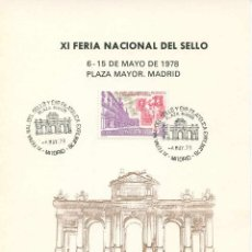 Sellos: HOJA RECUERDO 1978 NUMERADA - EXFILMA 78. Lote 165166398