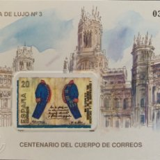 Sellos: 1989-ESPAÑA PRUEBA LUJO N. 18 CENTENARIO CORREOS. Lote 236448270
