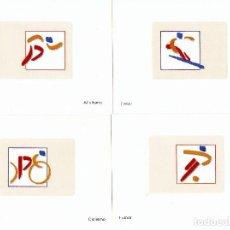Sellos: BARCELONA 92- 8 PRUEBAS DE ARTISTA - OLÍMPICOS DE ORO. Lote 165380110