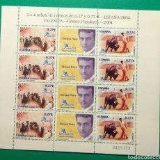 Sellos: ESPAÑA 2004. MINIPLIEGO 8 SELLOS. VALENCIA.. Lote 165899205