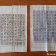 Sellos: FISCALES. LOTE DE 2 MINIPLIEGOS DE 100. RESTRICCIÓN CARBURANTES LÍQUIDOS.1952. DIFÍCIL CONSEGUIR ASÍ. Lote 166043382