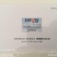 "Francobolli: 1987-ESPAÑA EDIFIL 11 PRUEBA EXPOSICIÓN FILATELICA RUMBO AL 92 ""SEVILLA"". Lote 234327770"