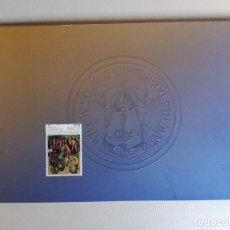Stamps - ESPAÑA.Año 2001.Milenario del nacimiento de Santo Domingo de Silos,CARPETA. - 166792094