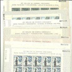 Sellos: ESPAÑA-1643/52 SERIE TURÍSTICA PLIEGOS 25 SELLOS NUEVOS SIN FIJASELLOS (SEGÚN FOTO). Lote 166958700