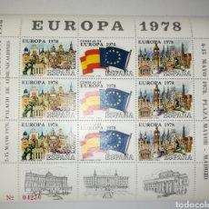 Sellos: ESPAÑA HOJA RECUERDO PROMOCIÓN EXPOSICIÓN FILATÉLICA EUROPA 78 XI FERIA DEL SELLO 1978 EDIFIL 1. Lote 182940655