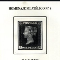 Sellos: ESPAÑA SPAIN HOMENAJE FILATÉLICO 8 EDIFIL BLACK PENNY PRIMER SELLO DEL MUNDO 2012. Lote 230979330