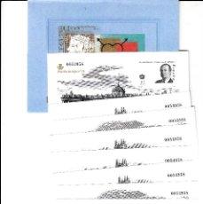 Selos: 3711 AC 150 ANIVERSARIO DEL SELLO ESPAÑOL LAS 7 HOJITAS Y LA PRUEBA DE LUJO NUM.16 CON CARPETA. Lote 202974471