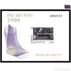 Sellos: ESPAÑA 1994, PRUEBA 31, LUJO 8. DÍA DEL SELLO. NUEVO** MNH. Lote 169209276