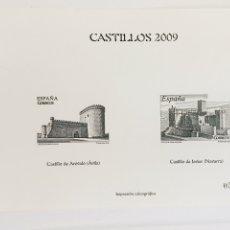 Sellos: ESPAÑA SELLOS CASTILLOS EDIFIL 4510/1 AÑO 2009 IMPRESION CALCOGRAFIA NO CATALOGADA MUY RARO. Lote 169679590