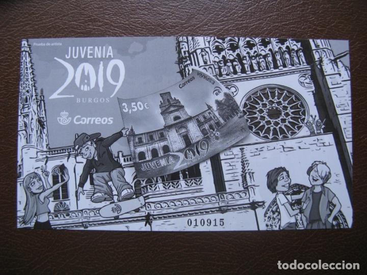 2019, PRUEBA DE ARTISTA JUVENIA 2019 (Sellos - España - Pruebas y Minipliegos)