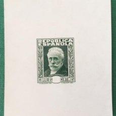 Sellos: 1932-ESPAÑA (*) 659 P GALVEZ 3037 PRUEBA DE PUNZON VERDE SIN VALOR EN CARTUCHO- MUY RARA. Lote 171636677