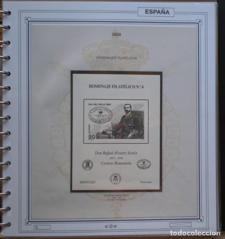 ESPAÑA - HOMENAJE FILATELICO Nº 4 - DON RAFAEL ALVAREZ SEREIX - CARTERO HONORARIO 2008 (Sellos - España - Pruebas y Minipliegos)