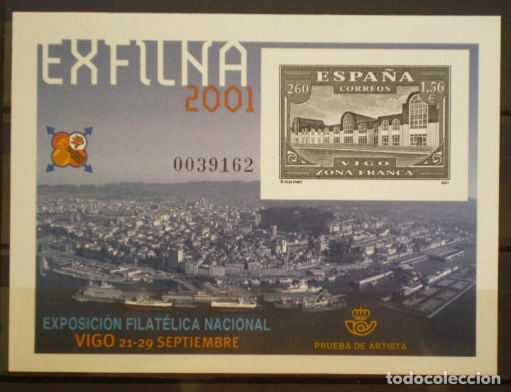 ESPAÑA - PRUEBA OFICIAL - EDIFIL Nº 75 - EXFILNA 2001 - VIGO (Sellos - España - Pruebas y Minipliegos)