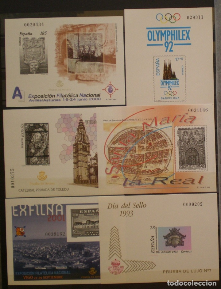 ESPAÑA - LOTE B - 6 PRUEBA OFICIALES - EDIFIL Nº 26 - 28 - 72 - 73 - 75 - 85 (Sellos - España - Pruebas y Minipliegos)