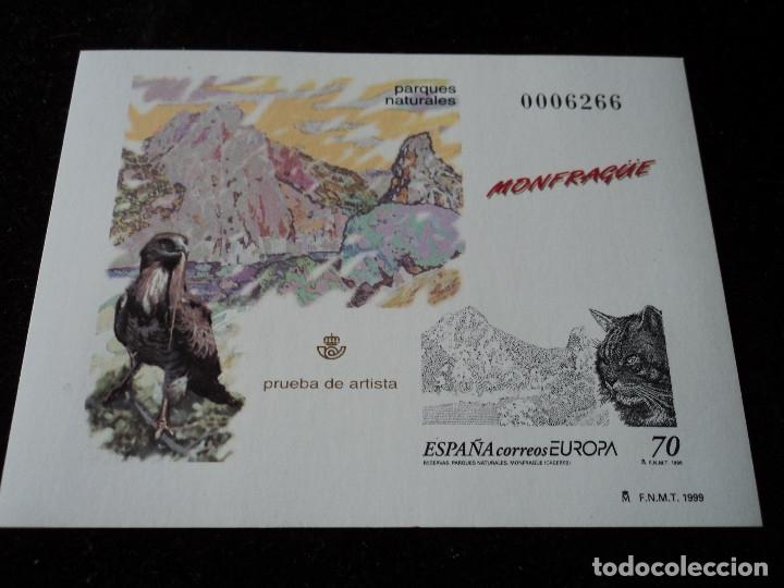 ESPAÑA 1999, PRUEBA DE ARTISTA: MONFRAGÜE (MNH) (Sellos - España - Pruebas y Minipliegos)