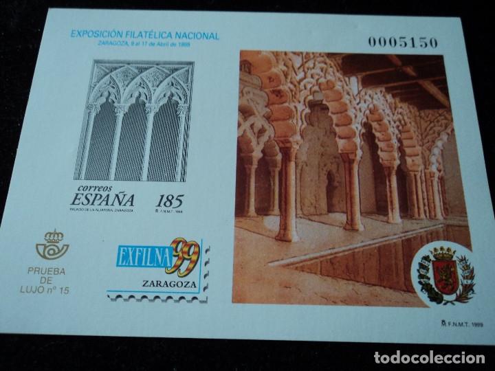 (PRUEBA DE LUJO Nº 15), EXFILNA'99 ZARAGOZA (Sellos - España - Pruebas y Minipliegos)