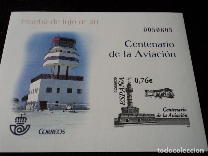 PRUEBA DE LUJO 20 CENTENARIO AVIACIÓN (Sellos - España - Pruebas y Minipliegos)