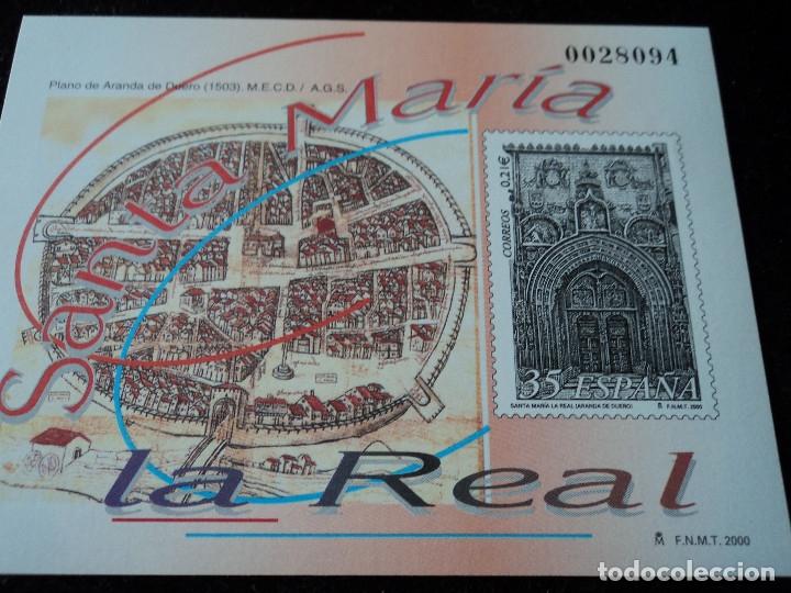 PRUEBA DE LUJO SANTA MARIA LA REAL (Sellos - España - Pruebas y Minipliegos)