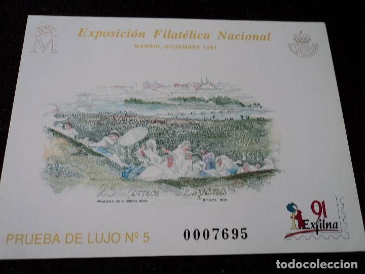 1991. PRUEBAS PRUEBA 24 LUJO 5. EXFILNA 91 (Sellos - España - Pruebas y Minipliegos)