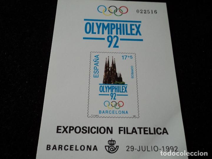 PRUEBA OFICIAL NÚMERO 26 OLYMPHILEX 92 (Sellos - España - Pruebas y Minipliegos)