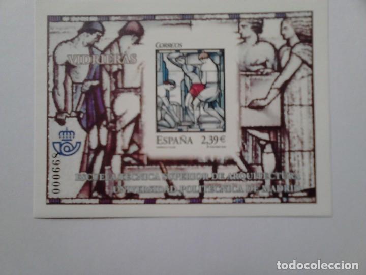 53 PRUEBA DE LUJO VIDRIERAS ESCUELA TECNICA SUPERIOR ARQUITECTURA UNIV, POLITECNICA DE MADRID 2006 (Sellos - España - Pruebas y Minipliegos)