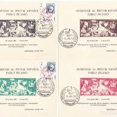 Sellos: JUEGO DE 5 HOJAS HOMENAJE A PABLO PICASSO AÑO 1973 EXPOSICIÓN FILATÉLICA DE BARCELONA . Lote 178174368