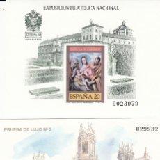 Timbres: 1989 PRUEBAS NUMS 18 Y 19 CENT. CREACION CUERPO DE CORREOS Y EXFILNA 89. Lote 181071647