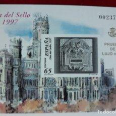 Selos: PRUEBA OFICIAL. EDIFIL 62 **. ESPAÑA 1997. Nº 23750 . PRUEBA DE LUJO 13. Lote 182222613