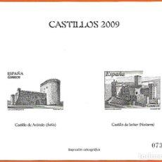 Sellos: CALCOGRAFIA DE PRUEBAS ESPECIALES 2009 CASTILLOS 2009. Lote 183067342