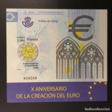 Sellos: 2009-ESPAÑA PRUEBA DE LUJO 98 - X ANIVERSARIO DE LA CREACIÓN DEL EURO -. Lote 213024972