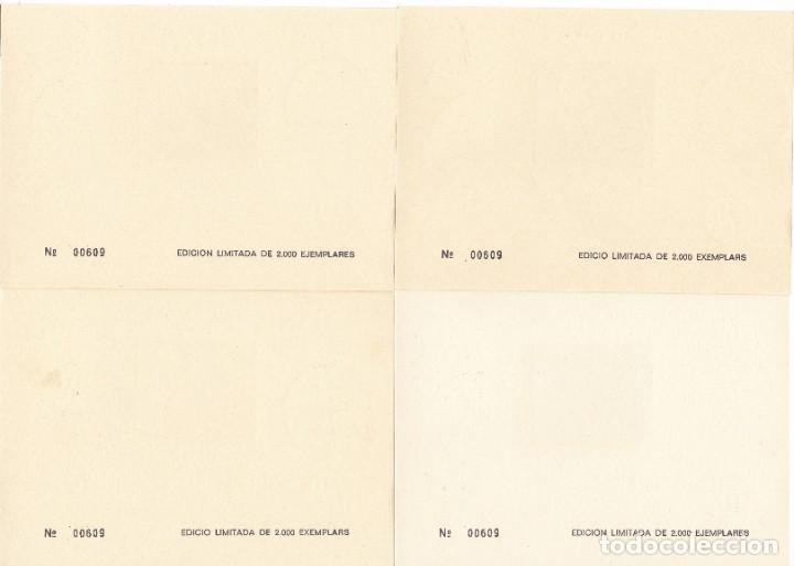 Sellos: JUEGO DE 4 HOJAS HOMENAJE A PAU CASALS AÑO 1974 EXPOSICIÓN FILATÉLICA DE BARCELONA - Foto 2 - 183413713
