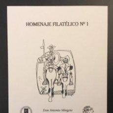 Sellos: 2005-ESPAÑA HOMENAJE FILATÉLICO 1 ANTONIO MINGOTE CARTERO HONORARIO. Lote 183822661