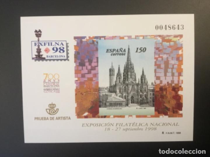 1998-ESPAÑA PRUEBA OFICIAL 66 EXFILNA ´98 - BARCELONA - (Sellos - España - Pruebas y Minipliegos)