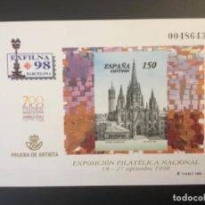 Sellos: 1998-ESPAÑA PRUEBA OFICIAL 66 EXFILNA ´98 - BARCELONA -. Lote 197726805