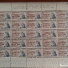 Sellos: 1974. ESPAÑA EDIFIL 2182. JORGE JUAN. PLIEGO COMPLETO DE 25 SELLOS.NO190460. Lote 184329153