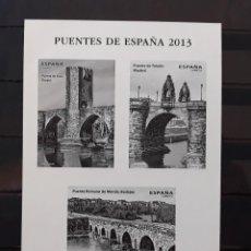 Timbres: ESPAÑA 2013 PRUEBA CALCOGRÁFICA PUENTES. Lote 184475986