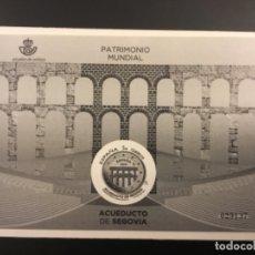 Timbres: 2016-ESPAÑA PRUEBA DE LUJO Nº 129 PATRIMONIO MUNDIAL ACUEDUCTO DE SEGOVIA. Lote 184693088