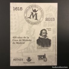 Timbres: 2015-ESPAÑA PRUEBA DE LUJO Nº 124 - 400 AÑOS CASA DE LA MONEDA DE MADRID -. Lote 184693097