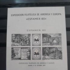 Sellos: ESPAÑA 1980 - PRUEBA DE LUJO EDIFIL Nº 3 - ESPAMER´80 . Lote 184699652