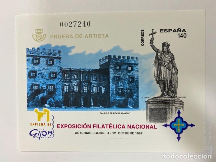 EXFILNA 97. PRUEBA DE ARTISTA 64. GIJON. NUEVA. (Sellos - España - Pruebas y Minipliegos)