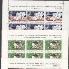 Sellos: ESPAÑA MINIPLIEGOS 10/12 OLIMPIADAS BARC SELLOS NUEVOS SIN FIJASELLOS PRECIO BAJO FACIAL(SEGÚN FOTO). Lote 205556611