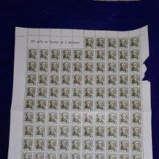 Sellos: PLIEGO SELLOS 125 DE FRANCO, 5 CENTIMOS. Lote 191843941
