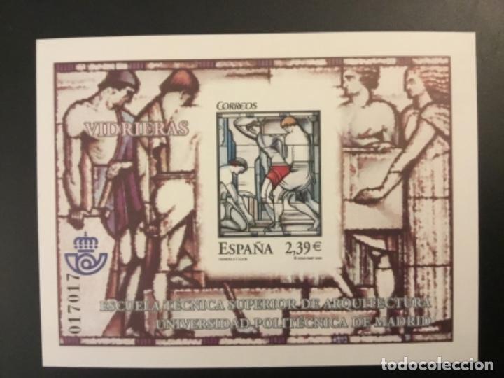 2006-ESPAÑA PRUEBA OFICIAL 93. VIDRIERAS ARQUITECTURA MADRID (Sellos - España - Pruebas y Minipliegos)