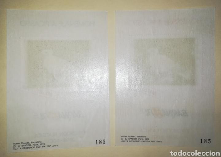 Sellos: ESPAÑA 1978 HOJAS RECUERDO BARNAFIL 78 HOMENAJE A PICASSO EDIFIL 67M-68M MUESTRAS - Foto 2 - 194236593