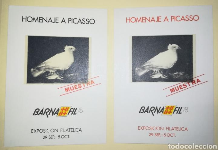 ESPAÑA 1978 HOJAS RECUERDO BARNAFIL 78 HOMENAJE A PICASSO EDIFIL 67M-68M MUESTRAS (Sellos - España - Pruebas y Minipliegos)