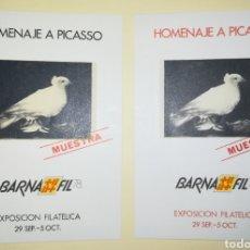 Sellos: ESPAÑA 1978 HOJAS RECUERDO BARNAFIL 78 HOMENAJE A PICASSO EDIFIL 67M-68M MUESTRAS. Lote 194236593