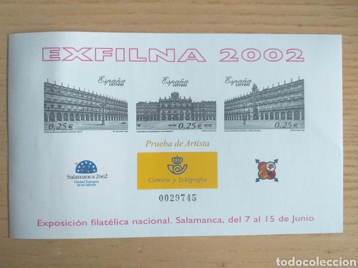 SELLOS PRUEBA DEL ARTISTA 2002 EXFILNA SALAMANCA (Sellos - España - Pruebas y Minipliegos)