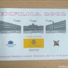 Sellos: SELLOS PRUEBA DEL ARTISTA 2002 EXFILNA SALAMANCA. Lote 194271020